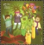 Stamps of the world : Mexico :  Navidad Mexicana Alegorias-Posadas