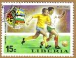 Sellos de Africa - Liberia -  Copa Mundo Futbol Munich 1974