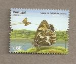 Sellos de Europa - Portugal -  Azores, Mariposa