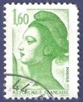 Stamps France -  Yvert 2219 Liberté 1,60 verde
