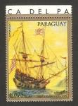 Sellos del Mundo : America : Paraguay : Nave Santa María