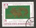 Sellos de Asia - Yemen -  estado kathiri, olimpiadas los ángeles 1932,