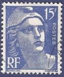 Sellos de Europa - Francia -  FRA Yvert 886 Marianne de Gandon 15 azul
