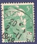 Sellos de Europa - Francia -  FRA Yvert 809 Marianne de Gandon 5 verde 1948