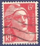 Stamps France -  FRA Yvert 721 o 721A Marianne de Gandon 6 rojo