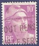 Sellos de Europa - Francia -  FRA Yvert 811 Marianne de Gandon 10 lila