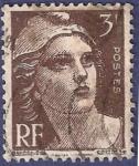 Sellos de Europa - Francia -  FRA Yvert 715 Marianne de Gandon 3 marrón