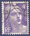 Stamps France -  FRA Yvert 718 Marianne de Gandon 4 morado