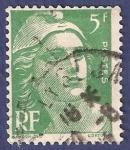 Sellos de Europa - Francia -  FRA Yvert 719 Marianne de Gandon 5 verde 1945