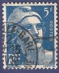 Stamps France -  FRA Yvert 719B Marianne de Gandon 5 azul