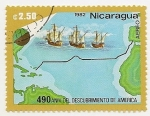 Stamps America - Nicaragua -  490° Aniversario del Descubrimiento de América