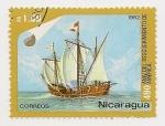 Stamps : America : Nicaragua :  490° Aniversario del Descubrimiento de América