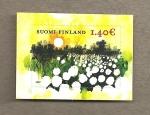 Sellos de Europa - Finlandia -  Flor de verano:Eriophorum vaginatum