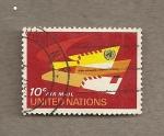 Sellos del Mundo : America : ONU : Cartas por via aérea