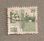 Stamps India -  Tractor