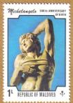 Stamps Maldives -   500 Aniversario Miguel Angel
