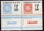 Stamps Uruguay -  Jornadas Filatelicas ESCUDITOS