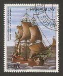 Sellos del Mundo : America : Paraguay : Barco en la desembocadura del Weser junto a boya de bremen