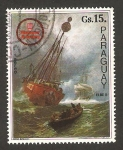Stamps Paraguay -  Barco alemán, Hans Bohrdt