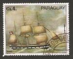 Sellos de America - Paraguay -  Barco alemán, P. Pepp