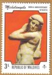 Stamps Asia - Maldives -   500 Aniversario Miguel Angel