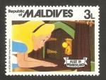 Stamps of the world : Maldives :  Alicia en el País de las Maravillas, de Walt Disney