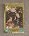 Stamps Laos -  Cuadro de A. Corregio