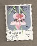 Sellos de Asia - Laos -  Orquidea Vanda teres