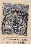 Stamps Tunisia -  Dominio Frances, Escudo