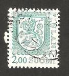 Stamps Finland -  escudo nacional