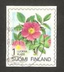 Stamps : Europe : Finland :  flor, rosa acicularis