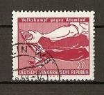 Stamps Germany -  DDR (RDA) Lucha de los pueblos contra la muerte atomica