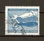 Sellos de Europa - Alemania -  DDR (RDA) Lucha de los pueblos contra la muerte atomica