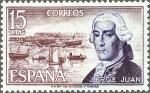 Sellos del Mundo : Europa : España : ESPAÑA 1974 (E2182) Personajes españoles: Jorge Juan 15p
