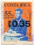 Stamps Costa Rica -  KENNEDY EN LA CATEDRAL SAN JOSE