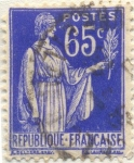 Stamps Europe - France -  Postes Republique française azul
