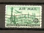 Sellos del Mundo : America : Estados_Unidos : Estatua Libertad y N.Y. Skyline