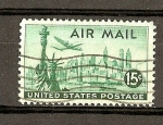 Stamps America - United States -  Estatua Libertad y N.Y. Skyline