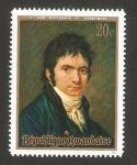Stamps Africa - Rwanda -  II centº del nacimiento de ludwig van beethoven