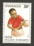 Stamps Africa - Rwanda -  ciudad de los niños S.O.S. en kigali
