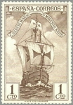 Stamps Europe - Spain -  ESPANA 1930 531 Barcos España: Carabela Santa Maria  NUEVO