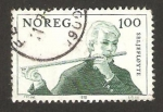 Stamps Europe - Norway -  instrumento de música folclórico, flauta de sauce