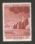 Sellos de Europa - Vaticano -  viaje de pablo VI a tierra santa, basílica en belén