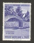 Stamps Vatican City -  viaje de pablo VI a tierra santa, muro de la anunciación en nazaret