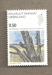 Stamps Europe - Greenland -  Arboles fósiles