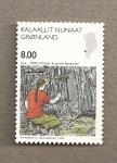 Stamps Greenland -  Estudio de los fósiles