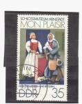 Stamps Germany -  obra de arte de castillo de mon plaisir