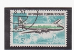 Stamps Africa - Central African Republic -  douglas dc 4