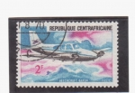 Stamps Africa - Central African Republic -  beechcraft baron