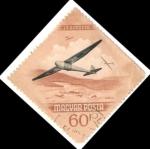 Stamps Hungary -  Hungría 1954 Scott C151 Sello Aviones Guerra usado